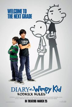 Diary of a Wimpy Kid: Rodrick Rules , starring Zachary Gordon, Devon Bostick, Robert Capron, Rachael Harris. Back in middle school after summer vacation, Greg Heffley and his older brother Rodrick must deal with their parents' misguided attempts to have them bond. #Comedy #Family
