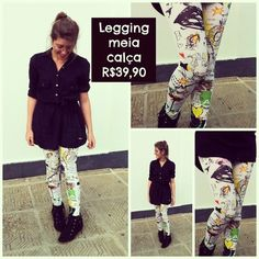 Legging colorida na AMEI facebook/lojaamei