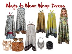"""Ways to Wear Wrap Dress"" by era-chandok ❤ liked on Polyvore"