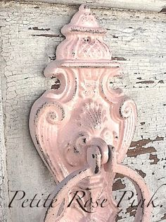 Pretty in Pink French Door Knocker