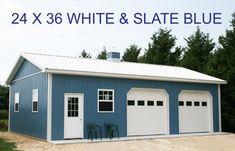 Pole Buildings, Shop Buildings, Lodge Look, Future Shop, Pole Barns, Card Tricks, Pewter Grey, Garage Shop, Garage Design