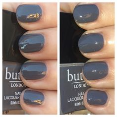 Butter London Full Steam Ahead  http://franken-cense.blogspot.com/2014/10/butter-london-full-steam-ahead.html  #SteampunkBall #ButterLondon #Grey #NailPolish #Franken_cense