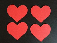 15 Large Red Heart die cuts shapes for cards/toppers cardmaking-scrapbooking craft projects on Etsy, £1.99