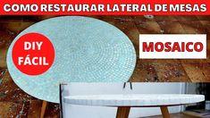 MOSAICO - Como fazer e restaurar lateral de mesas e quadros Mirror Mosaic, Mosaic Art, Mosaic Tiles, Diy Videos, Colored Glass, Flower Pots, Different Colors, Youtube, Art Pieces