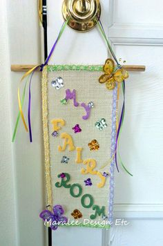 Check out this item in my Etsy shop https://www.etsy.com/listing/186164380/fairy-room-door-hangers