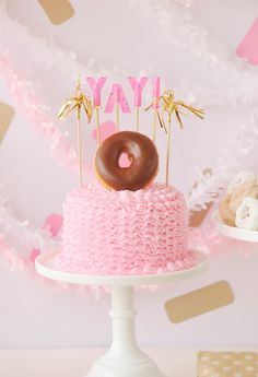 Donut-Themed Kids Party Cake
