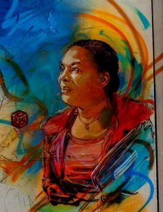 Vitry, mercredi . Un pochoir de l'artiste C215 rend hommage à Christiane Taubira sur un mur de la rue de la Glacière à Vitry-sur-Seine. (@j m...