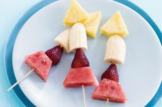 Blast off with these cute fruity rocket ships that will appeal to the kids and young-at-heart http://www.taste.com.au/recipes/21462/fruity+rocket+ships
