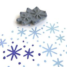 Snowflake Pattern Stamp - Rubber Stamp - Cling Rubber Stamp