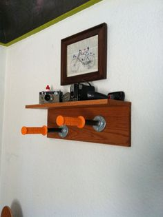 Custom wall mount bike rack by ItsMannMade on Etsy, $110.00