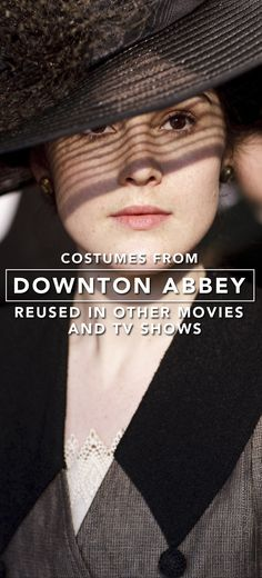 """Check out costumes from """"Downton Abbey"""" that have been used in other films and television shows. Recycled Costumes, Michelle Dockery, Movie Costumes, Period Dramas, Downton Abbey, Set Design, Movies And Tv Shows, Cloths, Recycling"""