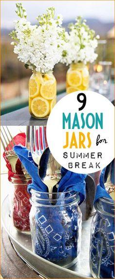9 Mason Jars for Sum