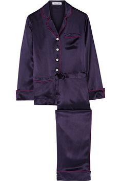 Olivia von Halle | Coco silk-satin pajama set | NET-A-PORTER.COM - Lingerie, Sleepwear & Loungewear - http://amzn.to/2ieOApL