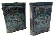 Vintage Tobacco Tin: 1910 Pair Edgeworth Ready Rubbed Pipe Cigar Tobacciana VA