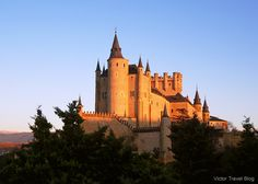 This Alcazar, a castle-palace, lies in the walled city of Segovia in the province of Segovia in Spain.