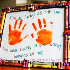 16f7b7b0 Easy Father's Day Crafts for Preschoolers, Toddlers and kids of all ages.  Easy Crafts