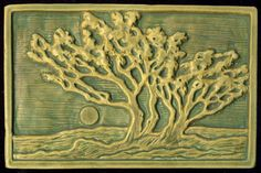 Grove of Trees Craftsman style Art Tile by RavenstoneTiles on Etsy Azulejos Art Nouveau, Art Nouveau Tiles, Craftsman Tile, Craftsman Decor, Craftsman Fireplace, Clay Tiles, Decorative Tile, Arts And Crafts Movement, Tile Art