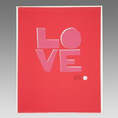 Love Poster by Paul Smith