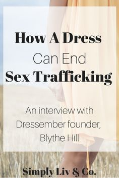 """Human trafficking feels like an untouchable issue that """"normal people"""" can make no impact on. However, Blythe Hill, the founder of the Dressember movement, believes lasting change happens one person, and one dress, at a time. Join the movement and read more about an amazing movement in our interview with Blythe."""