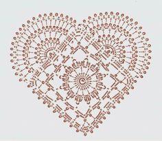 Coração em Crochê.  /  Heart Crochet.