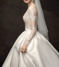 Long Sleeve Bridal Dresses, Bridal Gowns, Wedding Dress Train, Wedding Dresses, Elegant Dresses, Formal Dresses, Cathedral Train, Lace Embroidery, Prom Party