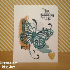 Work of Art, Everything Eleanor with the new Butterflies thinlits (2015 Occasions Catalog) #stampinup #literallymyjoy