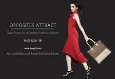 Perfect Fashion Mix! Baggit brings you the New Opposites Attract Collection. Shop now at: www.baggit.com