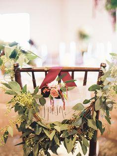 #garland, #chair-decor  Photography: Megan Pomeroy Photography - meganpomeroyphotography.com/  Read More: http://www.stylemepretty.com/2013/12/19/omaha-wedding-at-shadowridge-country-club/