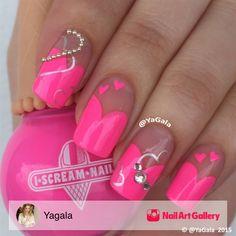 Hearts   Nail Art  www.saturnostore.com