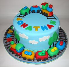 train cakes for boys | Traincake for a two years old boy