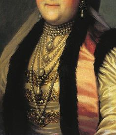 Detail from a portrait of Catherine the Great.