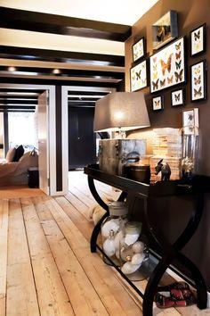 Image result for black walls light floors