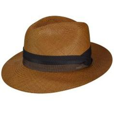 8d33cd40f53 The Bailey of Hollywood Cuban Panama Fedora has a handsome grad crown