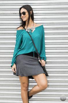 #debrummodas #inverno #saia #openshoulder #style #estilo #moda #fashion #modafeminina