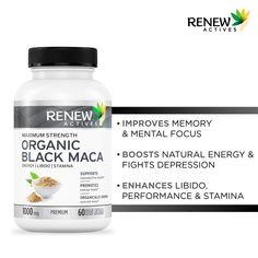Black Maca, Maca Root Powder, Depression Support, Natural Energy, How To Increase Energy, Pills, Organic, Vegan, Health