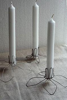 ... y un poco de diseño: sencillos candelabros