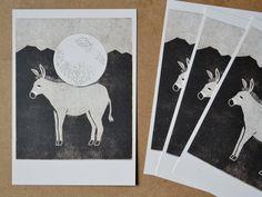 Postcard of Moon donkey