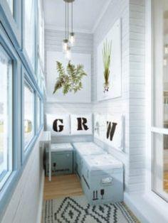 20 Ideas for Small Balcony Design Studio Apartments, Small Apartments, Small Spaces, Interior Balcony, Room Interior, Cabinet D Architecture, Vibeke Design, Banquette Seating, Apartment Balconies