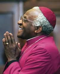 """Desmond Tutu.  I admire how he worked fearlessly for justice in South Africa and is able to laugh and advocate for forgiveness despite the fact that he has seen the darkest sides of human nature. """"That's the chief lesson I have learned: the texture of our universe is one where there is no question at all but that good and laughter and justice will prevail.""""  Read more: The Laughing Bishop - TIME http://content.time.com/time/magazine/article/0,9171,2022647,00.html#ixzz2jybg7puz"""