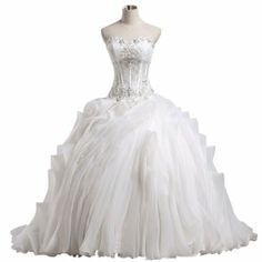 CloudShop Girls Ball Gown Bride Dress