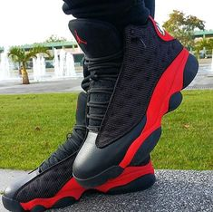 "Air Jordan 13 ""bred"" I got dem! Wooh matching da daddy✊ Source by jordan Jordan Shoes Girls, Air Jordan Shoes, Girls Shoes, Jordan Sneakers, Michael Jordan Shoes, Jordan Retro 6, Jordan 13, Jordan Xiii, Sneakers Mode"