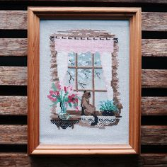Excited to share the latest addition to my #etsy shop: The Window Cat: cross stitch http://etsy.me/2H0RCKo #art #fibreart #cat #window #crossstitch #handmade #love #vintage #decor
