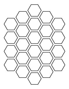 Use the printable outline for crafts, creating stencils, scrapbooking, and more. Free PDF template to… Stencil Templates, Stencil Designs, Printable Stencil Patterns, Painting Templates, Free Stencils, Muster Tattoos, Honeycomb Pattern, Hexagon Pattern, Bee Art