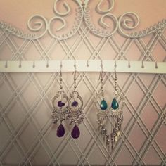 Intricate stone and silver earrings Beautiful, intricately crafted. One pair with jade stone, one with brown (?) stones. Perfect condition. Jewelry Earrings