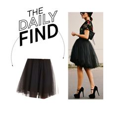"""The Daily Find: Charlotte Russe Tulle Skirt"" by polyvore-editorial ❤ liked on Polyvore featuring Charlotte Russe and DailyFind"