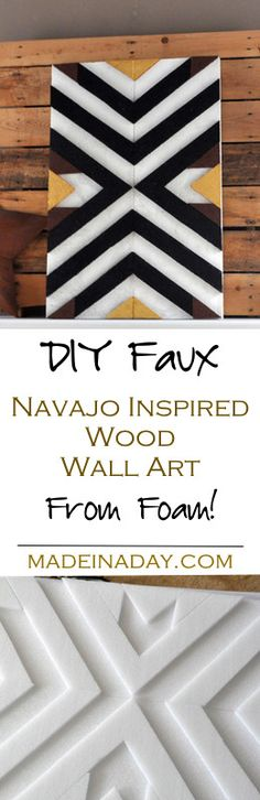 DIY Faux Wood Art fr