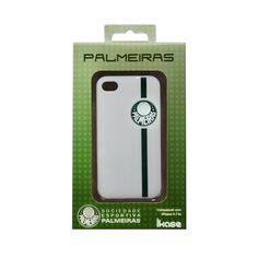 Capa para iPhone 4/4S Palmeiras Branco IKASE. R$78.00