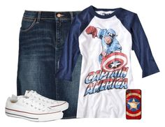 """""""Gonna watch agents of SHEILD!! Seriously the best show ever!"""" by skirt-wearing-tomboy ❤ liked on Polyvore featuring Brinley Co, Wrangler and Converse"""