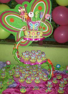 Torta BabyShower Mariposas de Colores