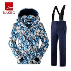 86d5418498 Girls or Boys Waterproof Ski Suit Kids Ski Jacket and Children Pants Snow Windproof  Warmth Thickened Winter Clothes Degree